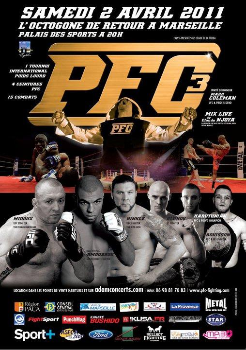 RDV SAMEDI A MARSEILLE POUR LE PFC 2011 (PANCRACE FIGHTING CHAMPIONSHIP)