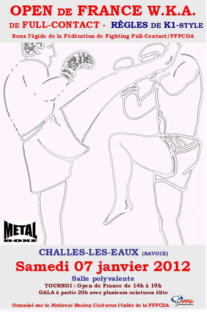Open de France de K1 (Kick-Boxing Japonais) à Challes