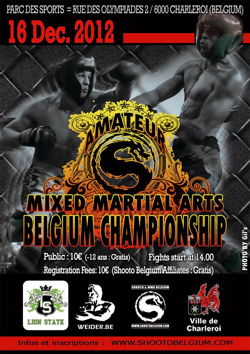 Championnat Belge de MMA et Shooto le 16 décembre 2012