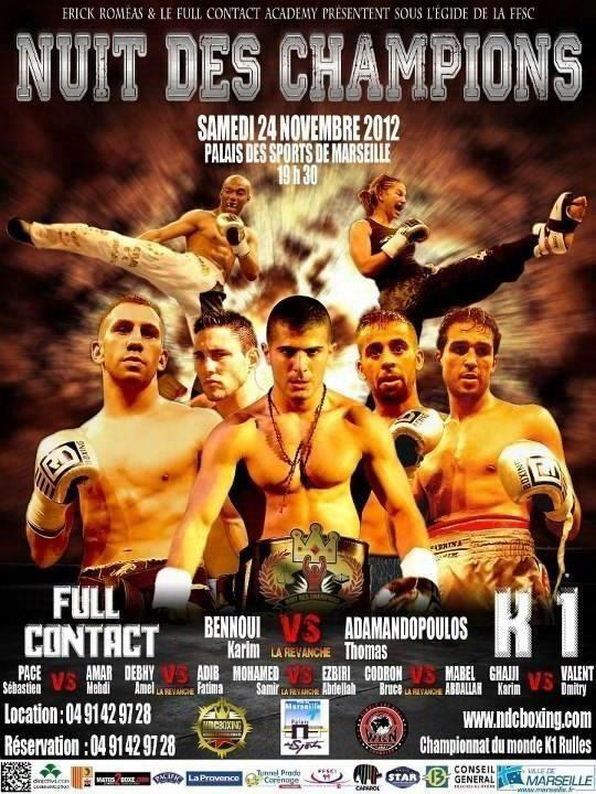 Résultats de la Nuit des Champions 2012 à Marseille