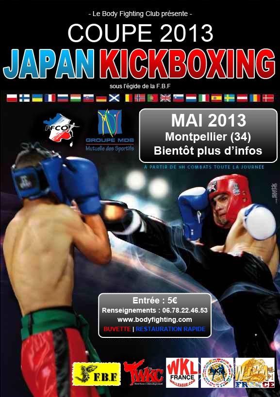 BIENTÔT LA COUPE 2013 DE JAPAN KICK-BOXING ORGANISÉ PAR LE CLUB