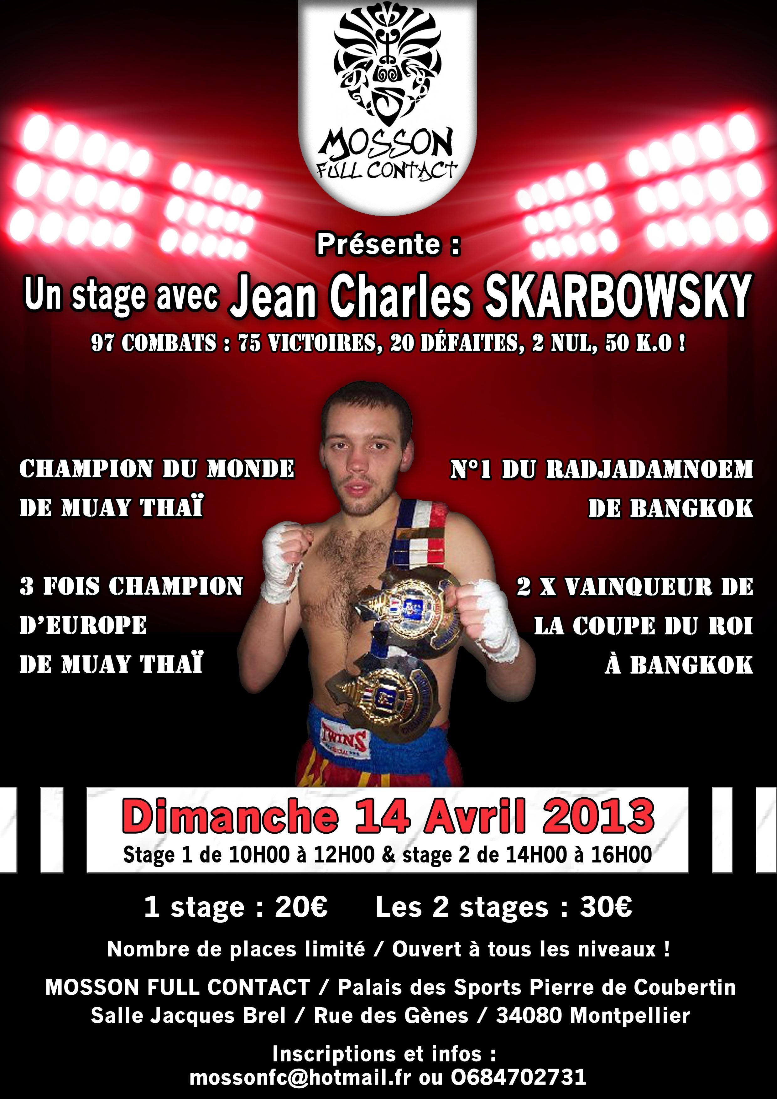 Jean Charles SKARBOWSKY en stage à Montpellier