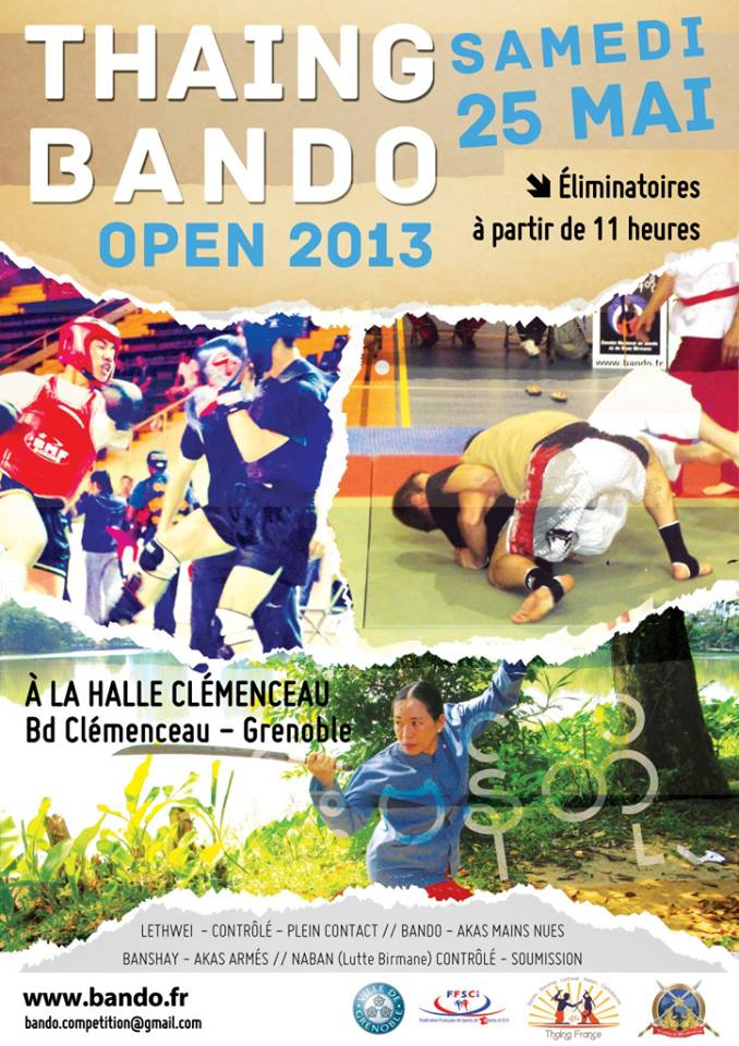 Open International de Boxe Birmane et de grappling à Grenoble