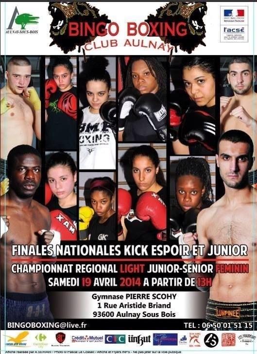 Finale du Championnat de France (CNKB/FFCDA) de Kick-Boxing à Paris