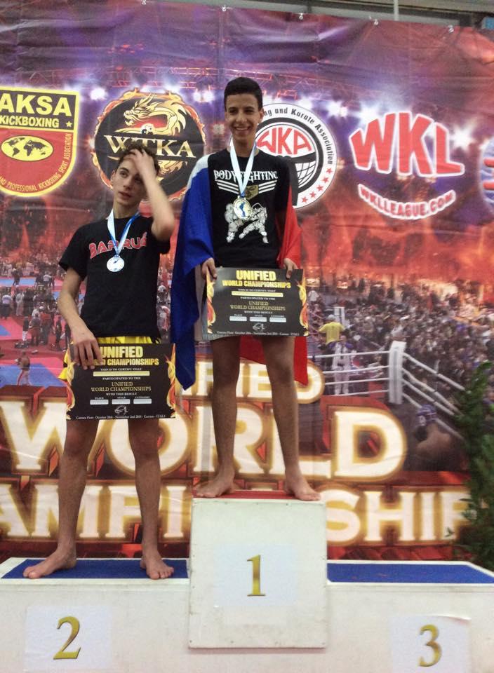 Hamid MHAMDI remporte la médaille d'or au Championnat du Monde Amateur WTKA 2014 en Kick-Boxing Light
