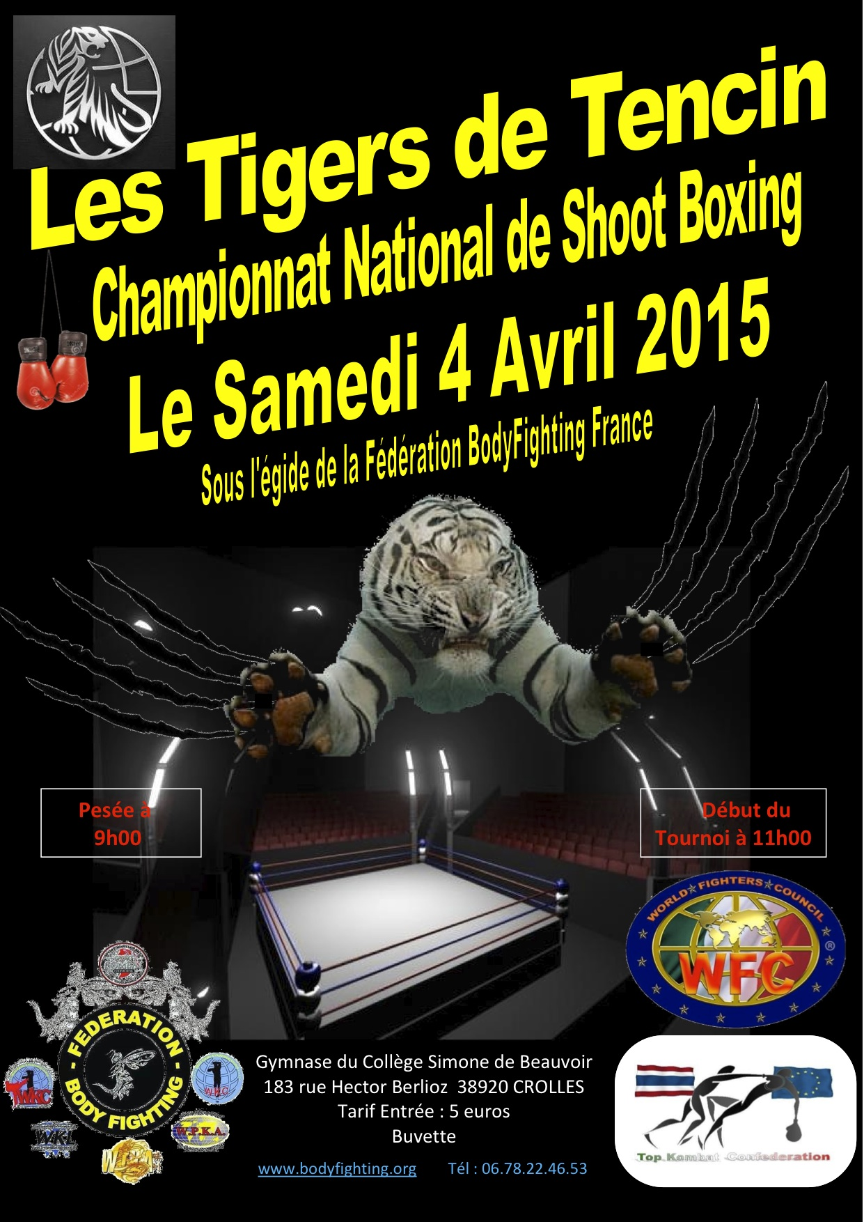 Championnat Nationale de Shootboxing 2015