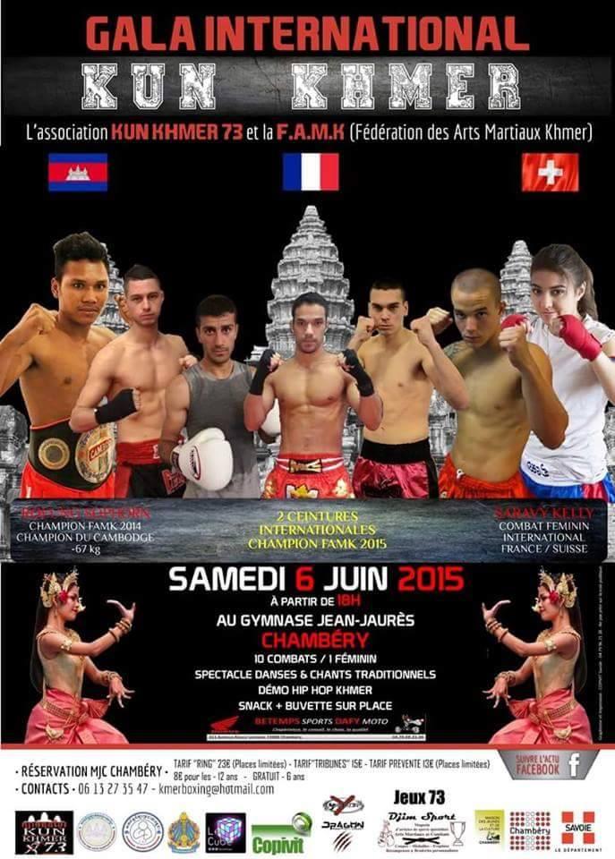 Gala International de Kun Khmer / Boxe Cambodgienne à Chambéry