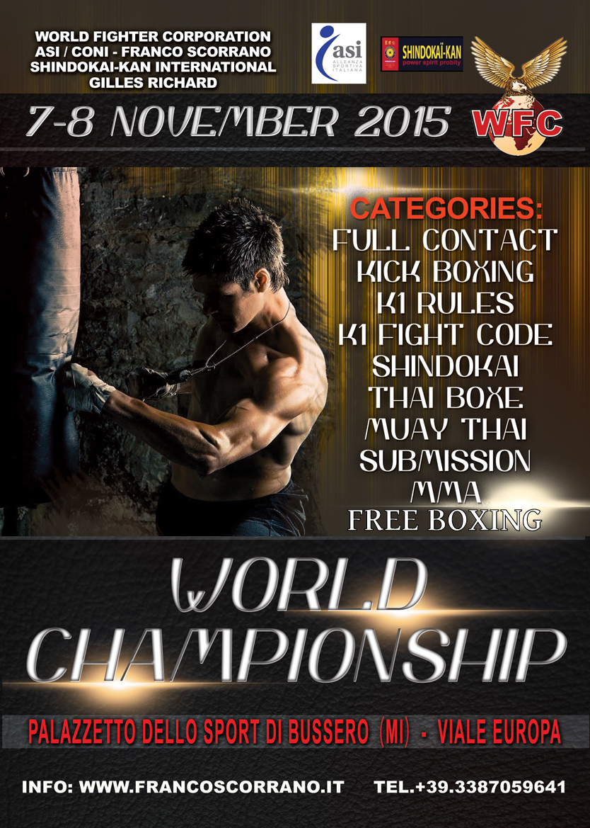 Retour sur le Championnat du Monde Plein Contact WFC à Milan en Italie 2015