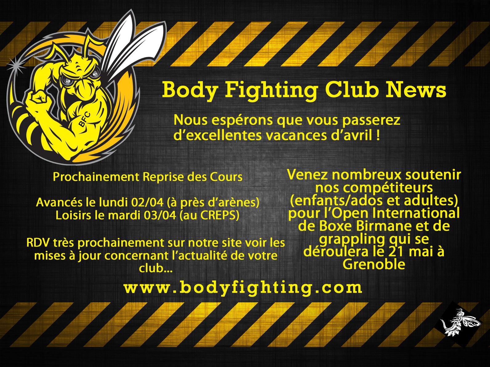 Toute l'équipe du Body-Fighting Club de Montpellier vous souhaitent d'excellentes vacances d'été!!!